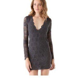 Nightcap Clothing Victorian Lace V-neck Mini Dress